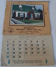 1956 MORRELL BUILDERS SUPPLY CO. INC ADVERTISING CALENDAR-HYDE PARK MA-FULL BOOK