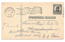 UX20 1908 Birmingham AL Columbia Machinie Cancel 1c Postal Stationery Card