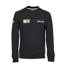 SWEATSHIRT Crew Neck Adult  Bike MotoGP Valentino Rossi VR46 NEW! Black Small