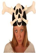 Pirate Skull & Cross Bones Hat Fancy Dress Costume Accessory NEW P5479