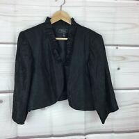 Dressbarn Collection Womens 18 Satin Open Front Bolero Jacket 3/4 Sleeve Shiny