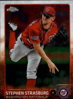 2015 Topps Chrome Baseball #23 Stephen Strasburg Washington Nationals