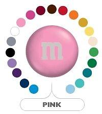 M&M's M&Ms Light Pink Milk Chocolate Lentils Gems Candy One Pound (1LB) Bag