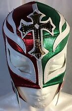 "REY MISTERIO ""MEXICO"" LUCHADOR MASK! MEXICAN FLAG! GREAT FOR HALLOWEEN HANDMADE!"