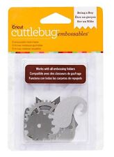 Cricut Cuttlebug BEING A BOY - SILVER Embossables Metal Shapes