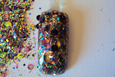 glitter mix acrylic gel nail art       MAGIC SHOW