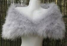 Silver/Grey Marabou Feather Shrug/Wrap/Stole - Sale Item - Reduced