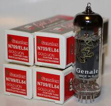 Matched Quads Genalex Gold Lion EL84 tubes,Reissue,NEW