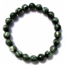 Natural Seraphinite Round Beads Stretch Bracelet 8mm