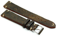 19mm /16 Germany made Vintage Lederband Retro Look Uhrenarmband Distressed braun