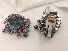 WOW - Vintage Saphiret Hobe earrings