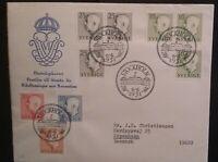Sweden Gustag VI Definitives 1951 Stockholm FDC National Rheumatism Cover
