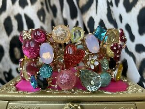 Betsey Johnson Minnie Mouse Bow Head Disney Collaboration Statement Bracelet