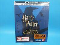 neuf film blu ray 4K ultra HD harry potter a l'ecole des sorciers