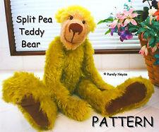 "Mohair/Plush ""Split Pea"" Teddy Bear Pattern by Neysa A. Phillippi Purely Neysa"
