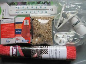 Chick Brooder Starter Kit (Chicks, Ducklings, Quails) Heat lamp, large feeds