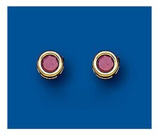Ruby Studs ruby Earrings Yellow Gold ruby earrings natural Ruby
