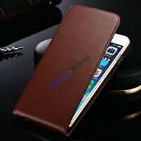 For Apple iPhone 6 6S 7 8 Plus Magnetic Genuine Leather Vertical Flip Case Cover