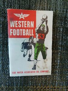 1953 Western Football College Schedule - Tide Water Associated Oil Company