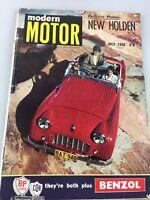 VINTAGE - MODERN MOTOR MAGAZINE - JULY, 1956 - NEW HOLDEN - GREAT OLD ADDS