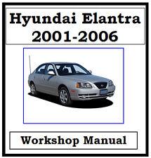 HYUNDAI ELANTRA / LANTRA 2001 - 2006 WORKSHOP MANUAL ON CD OR DOWNLOAD