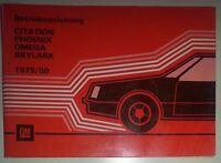 Betriebshandbuch Chevrolet Citation 1979/80  Deutsch!