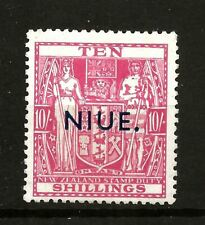 More details for niue  (y-o43) 1941 sg85 10/- carmine lake wmk 98 very lightly mounted mint