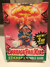 🔥HOT🔥 BBCE 1986 GARBAGE PAIL KIDS ORIGINAL SERIES 3 WAX BOX GPK OS3 🧛‍👨‍🚀