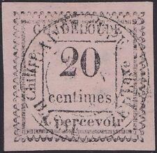 GUADELOUPE : Taxe n°9a oblitéré (2 penché)  Cote 1000€ RARE (tirage 100ex.)