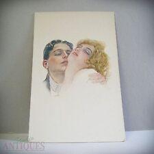 ITALIAN Postcard Erotic ART Gibson Girl ITALY C.E.I.C Pencil DRAWING Print 1910s