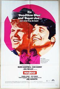 Norwood 1970 Goodtime Glen Campbell & Super Joe Namath, Kim Darby! US Poster