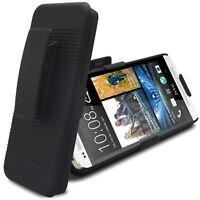 Coque Housse Etui Ceinture Pour HTC One M7 Noire