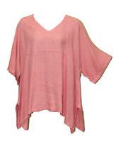 Match Point Linen Kimono Tunic NWT Quartz Pink Oversized  Plus Size 1X 2X