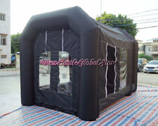 custom made portable black 14'Lx9'Wx9'H inflatable spray paint booth enclosure