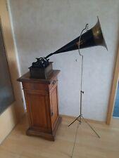 Edison Phonograph Model C großer Trichter mit Flurständer
