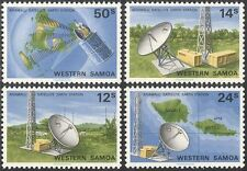 Samoa 1980 Satellite Station/Radio Dish/Communications/Space 4v set (s5363)