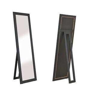 Standspiegel Milan moderner Ganzkörper Ankleide-Spiegel in schwarz 160x50cm