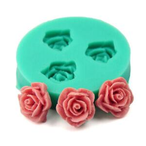 3D Rose Flower Silicone Fondant Mold Cake Decor Chocolate Sugarcraft Mould Tool