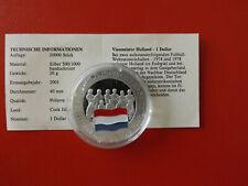*Cook Island 1 Dollar 2001 Silber PP(500 -ca20g)*Fußball WM/Niedelande(Schub69)