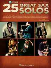 25 GREAT SAX SAXOPHONE SOLOS SHEET MUSIC SONG BOOK