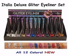 Italia Deluxe Liquid Glitter Eyeliners - 12 Colors, New & US SELLER, Fast Ship!