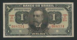 BRAZIL 1 MIL REIS  1945 AUNC