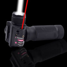 Alloy ForeGrip CREE LED Bright Flashlight&Red Laser Sight Picatinny Rail 4 Rifle