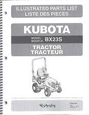 Kubota BX23S Tractor Illustrated Parts Manual 97898-43430