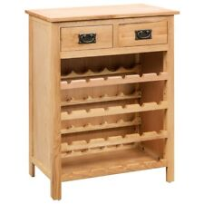 Wine Cabinet 72x32x90 Cm Solid Oak Wood vidaXL
