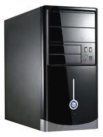 Best Value CIT Black Micro ATX Computer PC Case With 500W PSU mATX Tower USB x2