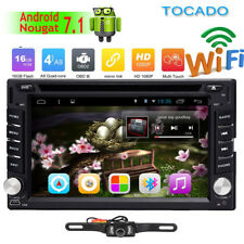 2018 US Android 7.1 HD WiFi 2 Din Car Head Unit Stereo Radio DVD Player GPS Navi