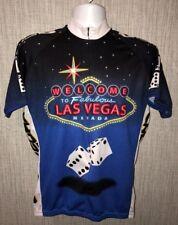 Vtg World Jerseys Mens LAS VEGAS Graphic Multi Color Shirt Size L 22 Inch Armpit
