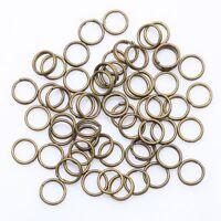 4/5/6/8/10/12 mm Metal Double Loop Split Jump Ring Open Jump Rings - 6 colors
