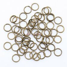4,5,6,8,10,12 mm Metal Double Loop Split Jump Ring Open Jump Rings - 6 colors UK